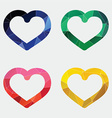 heart icon Abstract Triangle vector image vector image