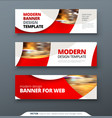 horizontal web banner templtes with circles and vector image vector image