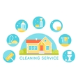 House Surrounded by Cleaning Services Images vector image vector image