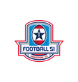 Houston American Football 51 Stars Crest Retro vector image vector image