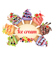 Ice cream different tastes vector image vector image