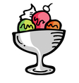 Ice cream sundae vector image