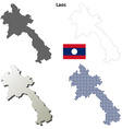 Laos outline map set vector image vector image