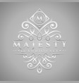 letter m logo - classic luxurious silver vector image