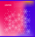 location concept in honeycombs vector image vector image