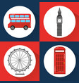 london england toruism travel landmark symbol vector image vector image