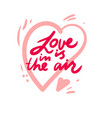 love lettering design for decor vector image vector image