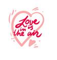 love lettering design for decor vector image vector image