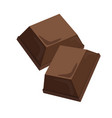 milk chocolate two piece flat design vector image vector image