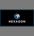 mk hexagon logo design inspiration vector image vector image