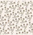 monochrome background with pattern of flowers with vector image vector image