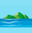 nature scene with ocean and island vector image vector image