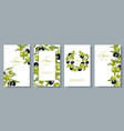 olive vertical banners vector image