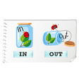 Opposite adjectives in and out vector image vector image