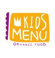 orgnic food for kids cafe special menu