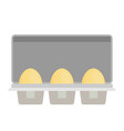 package of eggs flat vector image