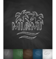 palm Miami icon Hand drawn vector image vector image
