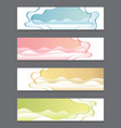 paper cutting curve background abstract set vector image