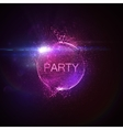 Party neon sign vector image