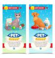 pet shop vertical banners vector image vector image
