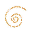 realistic gold chain texture golden chains link vector image vector image