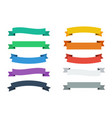ribbons in flat colors banners ribbons set of 10 vector image