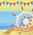 sea and nautical colourful summer vector image vector image
