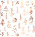 seamless christmas tree copper foil pattern vector image vector image