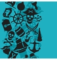 Seamless pattern on pirate theme with objects and vector image vector image