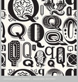 seamless vintage pattern letter Q vector image vector image