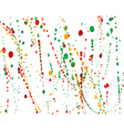 set colorful watercolor hand painted splashes vector image