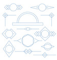 set of blue linear graphic stylized frames and vector image vector image