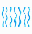 set of different curved lines vector image vector image