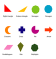 shapes chart for kids vector image vector image