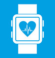 smartwatch icon white vector image vector image