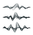 sound waves track design set audio waves vector image