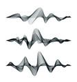 sound waves track design set of audio waves vector image vector image