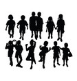 student activity silhouettes vector image