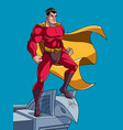 superhero watching from roof vector image vector image