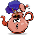 tempest in a teacup saying cartoon vector image vector image