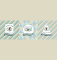 three colored labels with lily vector image