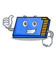 thumbs up memory card character cartoon vector image