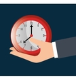 Timeclock watch icon vector image vector image