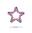 USA star from ribbon vector image