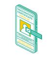 vaccination certificate on screen smartphone vector image vector image