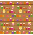 Seamless pattern with banks with different jam vector image