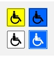 set icon movement of persons with disabilities vector image