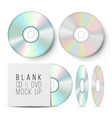 cd disc set realistic mock up with dvd vector image