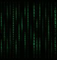 matrix hacker background vector image