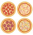 italian pizza icons vector image